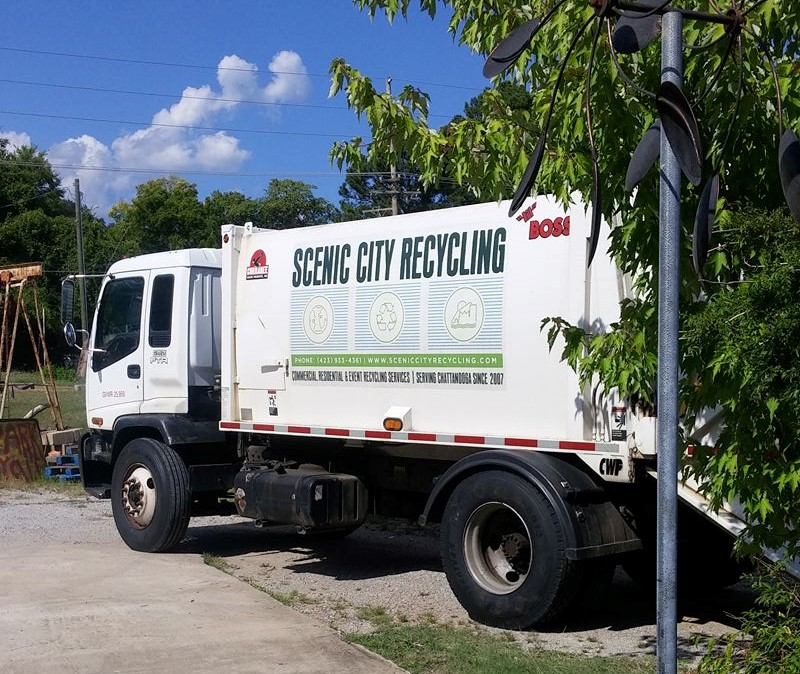 Scenic City Recycling Truck